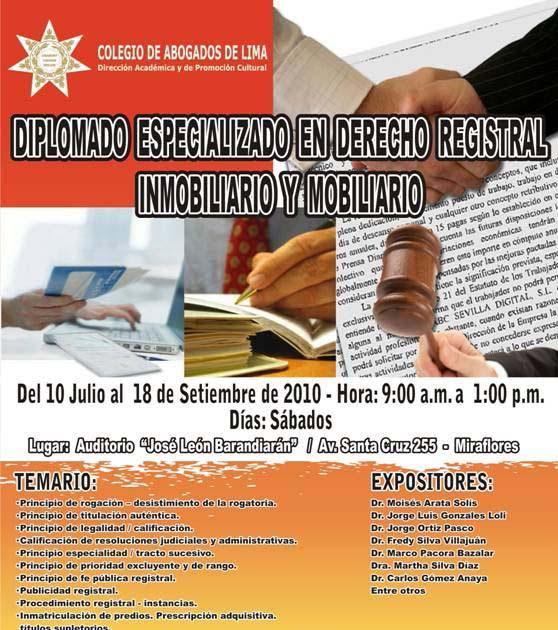 Practica Registral Y Notarial Diplomado Especializado En