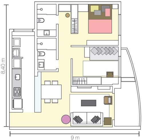 ideias e projetos de decoracao de interiores:Estreita e comprida, a cozinha foi aberta para a sala e ganhou mais