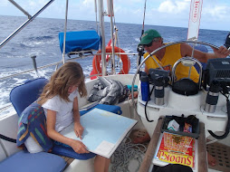 Peter & Shelby perusing the South Pacific atlas