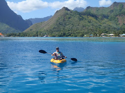 Di enjoying another perfect day in paradise for kayaking