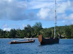 Double canoe sailboat