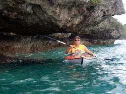 kayaking though the overhangs