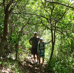 Scott  and  Cindy hiking with us