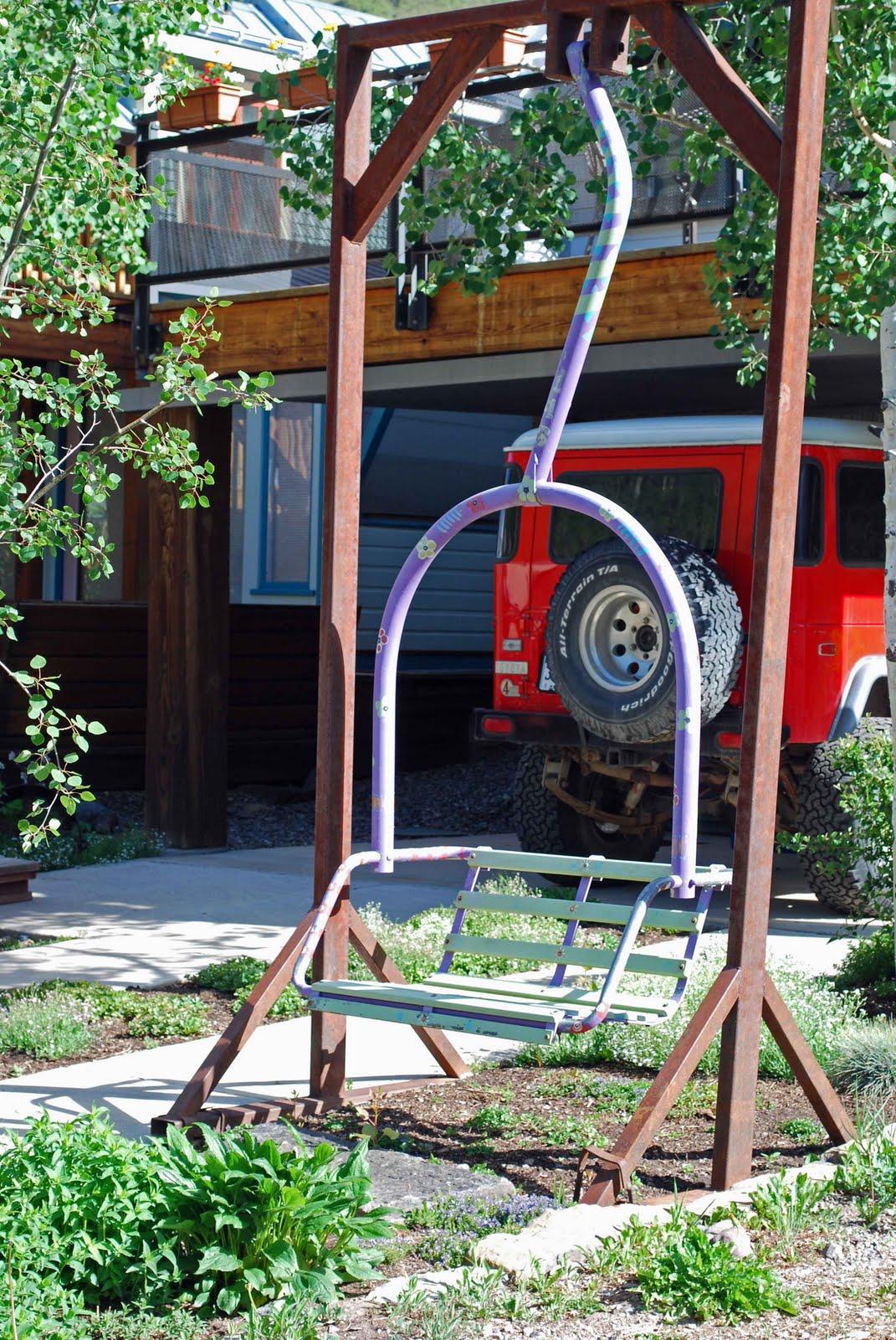 Ski Lift Swing : The art garden scenes from telluride