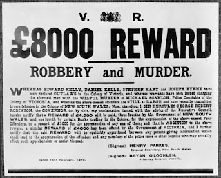 Kelly gang reward poster