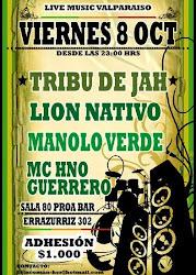 LIVE MUSIC VALPARAISO - 8 de Octubre