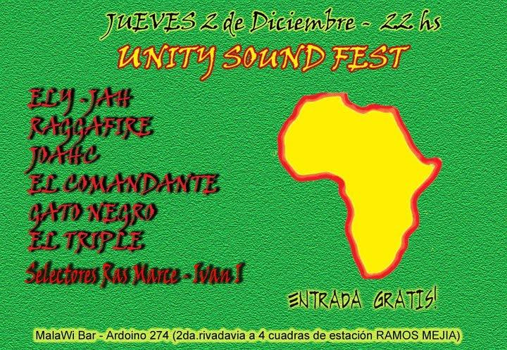 UNITY SOUND FEST - 2 de Diciembre