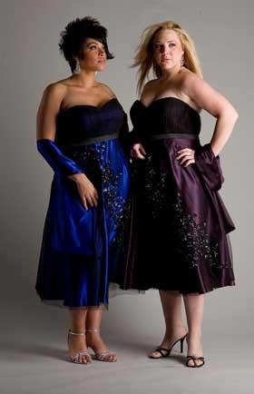 Vestidos cortos para damas de honor gorditas