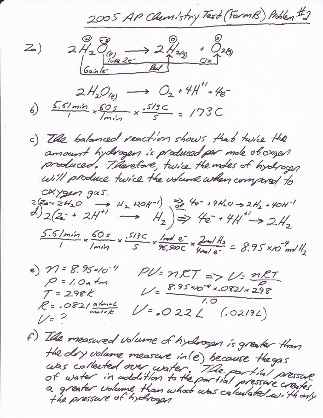 Heritage High School AP Chemistry: 2010