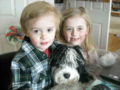 Bugsy With Taylor and Luke....pre haircut!!!