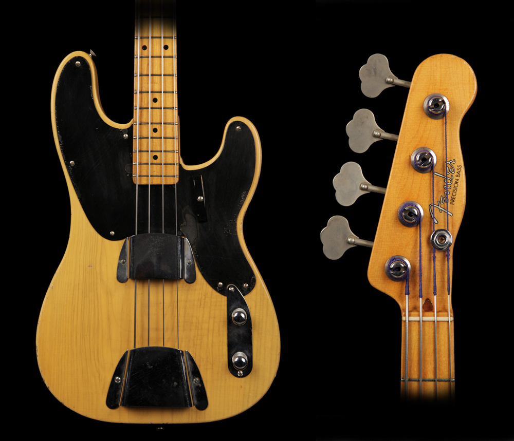 Vintage guitarz 1952 fender slab body precision bass 1952 fender slab body precision bass maxwellsz
