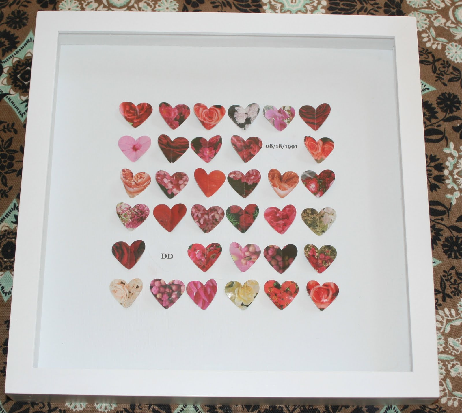 Adventures in Raising Girls: Homemade Anniversary/Wedding Gift Frame