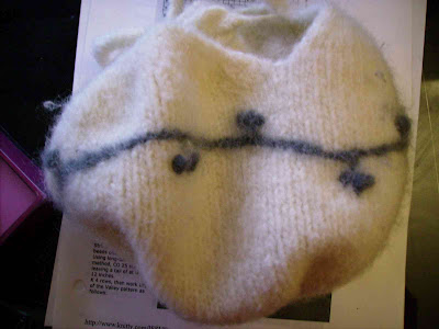 The Dumpling Bag by SheKnits - Cute Knitted & Felted Bag from Fall