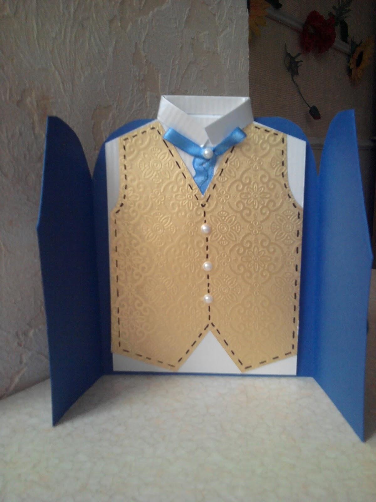 Открытки для мужчин своими руками рубашка мастер класс