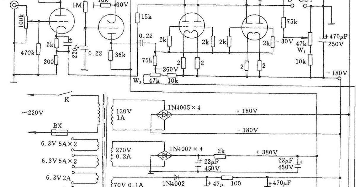 otl stereo amplifier used tube 6n5p