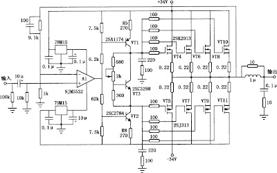 50 Watt Mosfet <a href='http://audio.corcuitlab.org' title='audio circuits'>audio</a> Power Amplifier