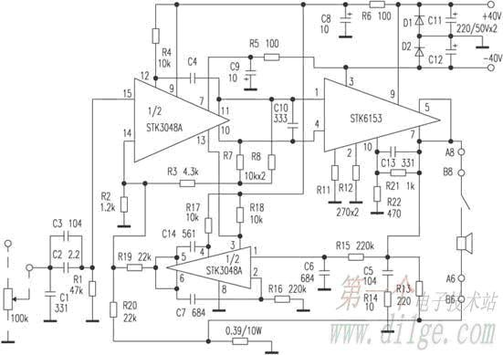 stk3048 stk6153 modul power amplifier another Electronic Circuit Schematic Diagrams Simple Electronic Projects Circuit Diagram