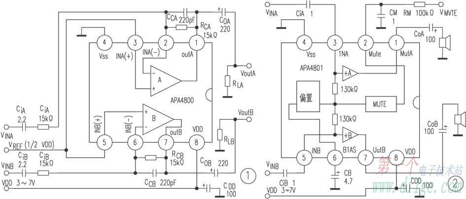 low-power amplifier apa4800    apa480