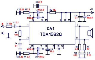 class h power amplifier tda1562q diy rh supplycircuit blogspot com class h power amplifier schematic diagram