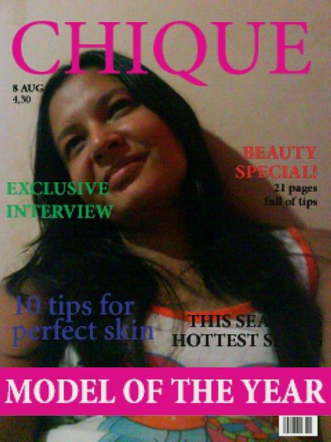Amiga capa de revista