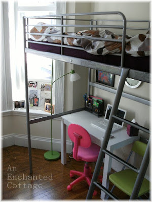 Pin ikea loft bed with desk underneath for sale in london for Ikea ontario canada