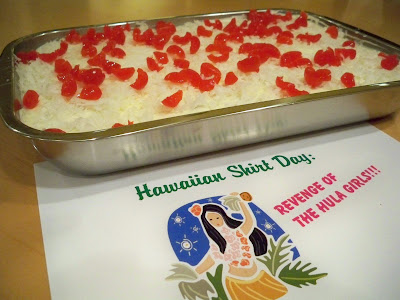 The banquet concludes with the Hawaiian Wedding Cake a majestic sea of