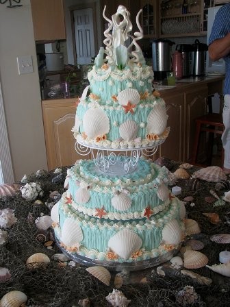 Culinary Types Seaside Wedding Cake