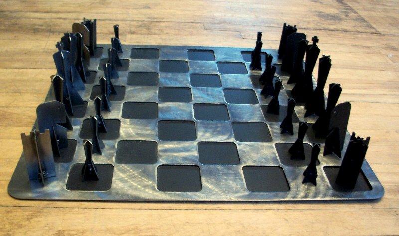 metal chess set