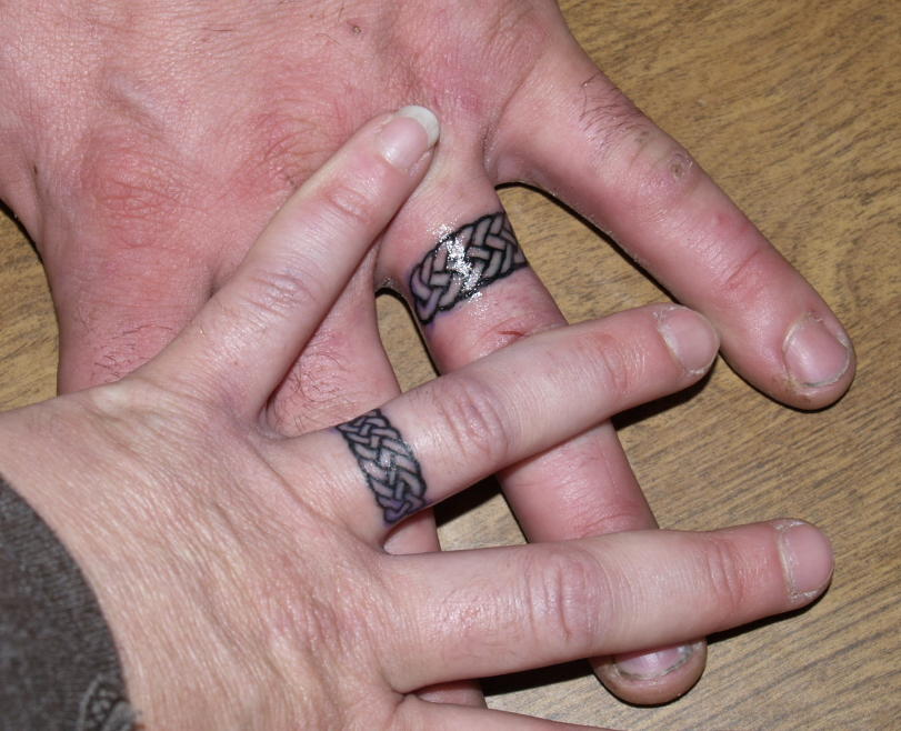 but I decided to look for other people's wedding ring tattoos and found