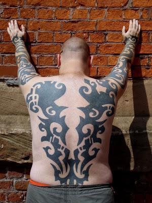 Full Body Tribal Tattoo from