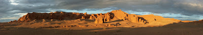 The Flaming Cliffs panorama