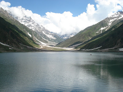 Lake Saiful Muluk during summer