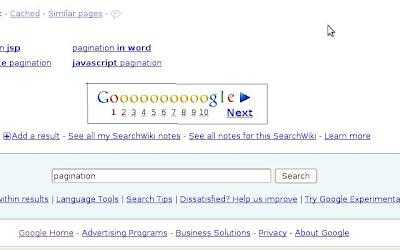 google pagination