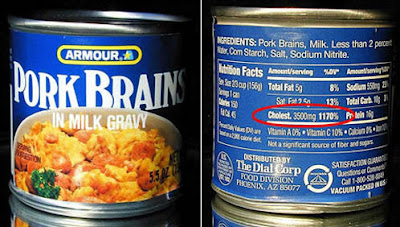 Canned Pork Brains with 3500mg Cholesterol