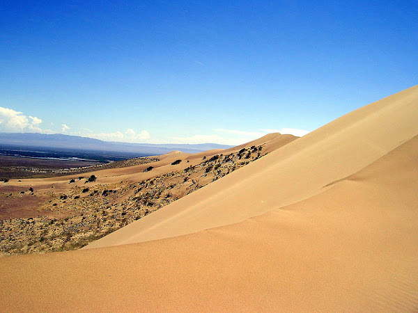 Singing sand dune in Altyn-Emel National Park, Almaty Province, Kazakhstan