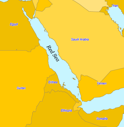 Map of Red Sea