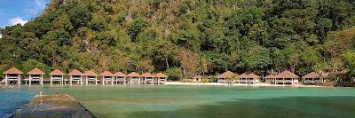 Beach and water cottages, el nido, palawan