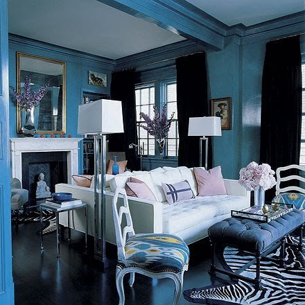 Chic Coles Gorgeous Rooms Painted Blue