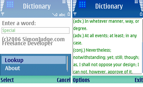 Oxford mobile dictionary all phones for Together dictionary