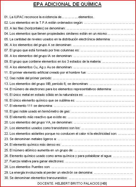 Helbert quimica tabla peridica 5 ao urtaz Images