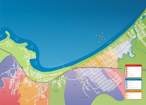 Mapa turístico de Itapema