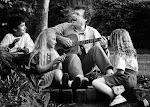 Tom with kids in Salem Oregon 1990