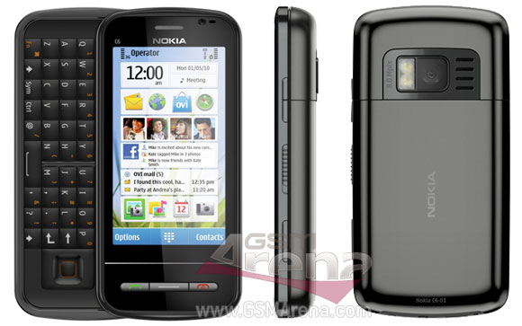 Nokia C6-01 dengan Kamera 8MP dan Dual LED Flash