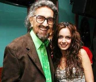 Shazahn with father Alyque Padamsee