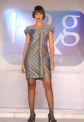Models catwalk wearing Grey at H&G Fashion Show