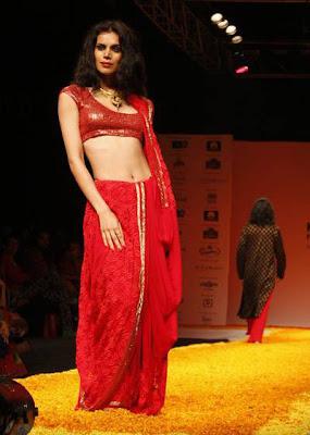 Red at Kolkata Fashion Week