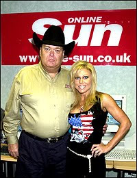 Terri in The Sun's office with JR