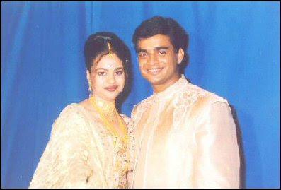 Sarita Birje with husband R Madhavan