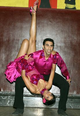 Jesse Randhawa legs up with Sandip Soparrkar