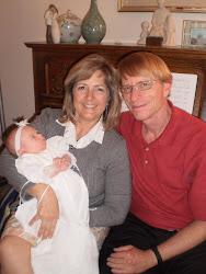 Kris & Dave with Amanda (grandbaby #8)
